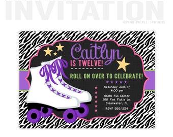 Roller Skating Invitation, Roller Skating Party, Roller Skating Party Invitation, Roller Skate Invite, Skate Party, Roller Skate Party | 518