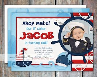 Lil Sailor Birthday Invitation