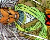 Bookmark - Comic Book Bookmark - Superhero Bookmak - Xmen - Storm - Auroro - Wind - Lightning - Green and Red - Wolverine - Logan - Cyclops
