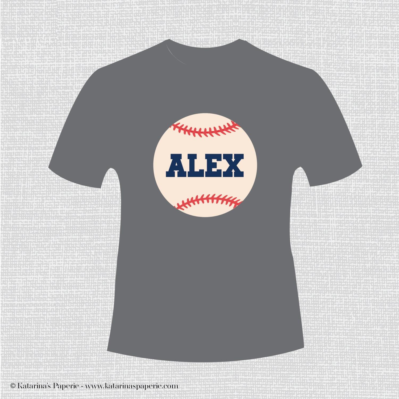 Custom baseball t shirt iron on decal transfer by for Custom baseball tee shirts