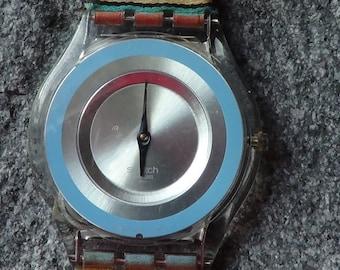 Swatch Swiss BLUE RING WAVE Skin series