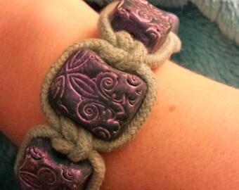 Polymer Clay macrame bracelet