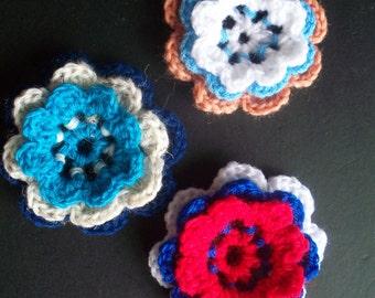 Crocheted Triple Flowers