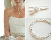 Bridal Jewelry SET, Wedding Necklace SET, Bridal Necklace and Earrings Set