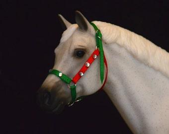 Christmas Themed Breyer Model Horse Halters