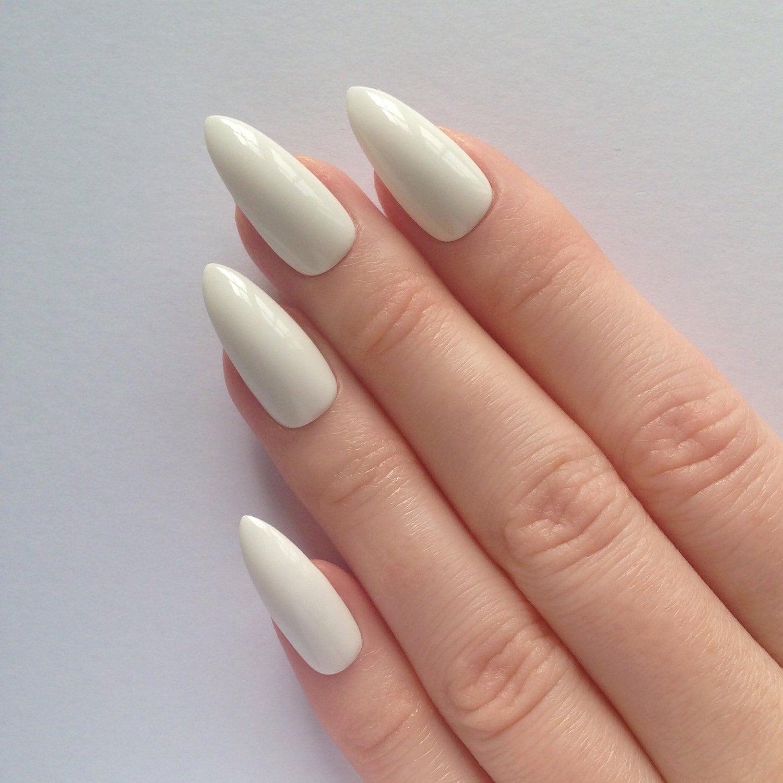 white stiletto nails nail designs nail art by