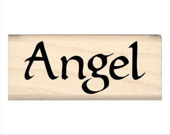 Angel - Name Rubber Stamp for Kids