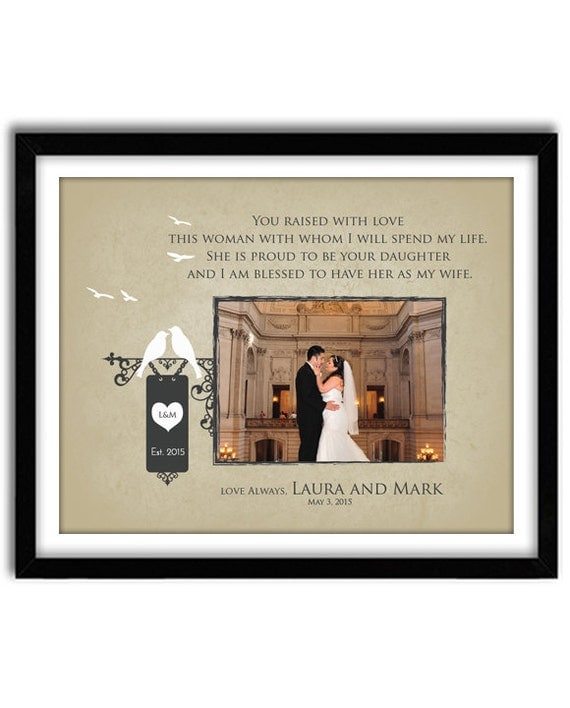 Memorable Wedding Gifts For Parents : Wedding Gift for Parents Of Bride, Thank You gift for Parents, In laws ...