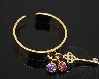E773-20pcs-Gold Plated-Ring