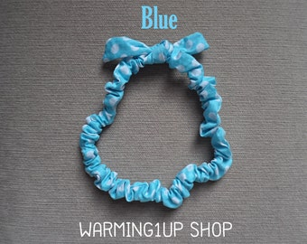 Blue Polka Dot Headband
