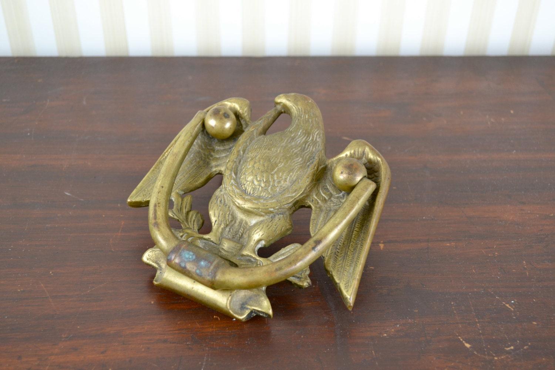 Vintage brass eagle door knocker - Vintage brass door knocker ...