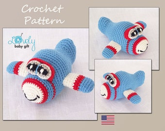 Crochet Pattern - Crochet Toy Pattern - Amigurumi Pattern - Airplane - Vehicle, CP-122