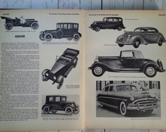 Antique book mid century A Pictorial History of the Automobile 1953 first printing Hard cover