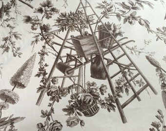 Greeff Gardener's Toile Fabric by the yard - Made in England