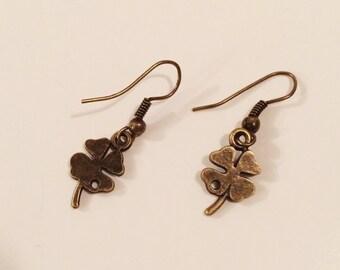 Bronze Clover Earrings