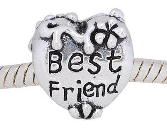 Best Friend, European Charm Bead For All Large Hole Charm Bracelet And Necklace Chain. Spring Collection