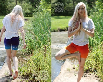 CUSTOM COLOR Ombre Athletic and Yoga Shorts