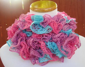 Scarf Turquoise, Pink, Purple