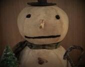 Snowman Doll, Primitive Snowman, Primitive Doll, Primitive Snowmen, Vintage Bottle Brush Tree, Vintage Tree, OFG, HAFAIR, FAAP