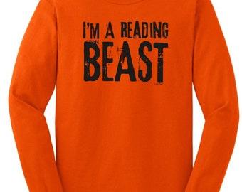 I'm A Reading Beast Long Sleeve T-Shirt 2400 - RV-112