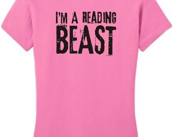 I'm A Reading Beast Junior's T-Shirt DT6001 - RV-112