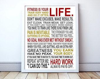 Fitness Inspiration - Custom Manifesto Poster Print