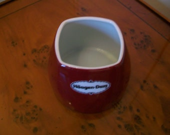 Vintage Haagen-Dazs Ice Cream Pot, Ice Cream Dish; Advertising; Royal Limoges, France