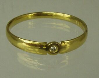 Engagement Ring.Daimond ring,14 karat  ring, yellow gold ring,Recycled gold, Wedding Band, Gold