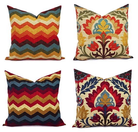Throw Pillow Case 20 X 20 : Two 20 x 20 Inch Pillow Covers Decorative by CastawayCoveDecor