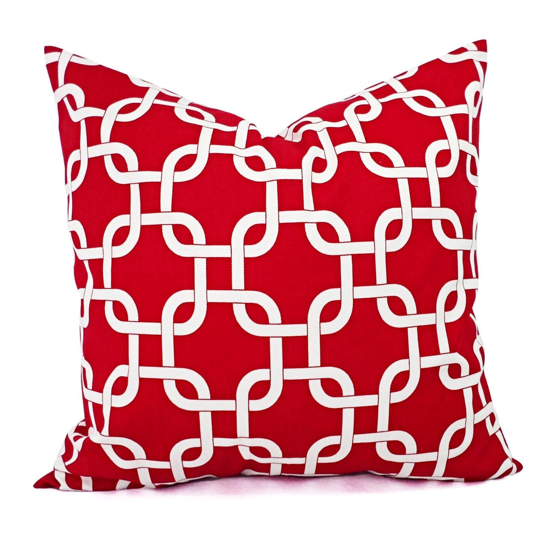 Two Red Pillows Red Pillow Cover Pillows Red Pillow