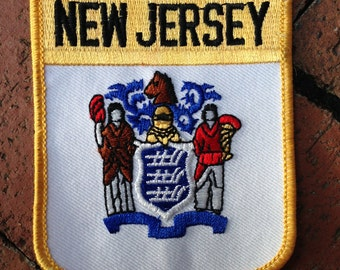 New Jersey Flag Souvenir Travel Patch