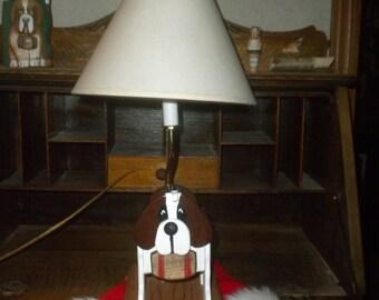 Saint Bernard Mailbox Lamp