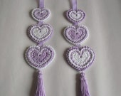Hanging 'Hippy Hearts' Decoration - Unique Handmade Crochet Design UK