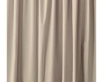 Beige Custom 72H Velvet Curtain Panel Drapes Large Home Living Room Bedroom Window