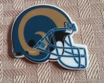 Rams center- rams helmets- bow centers- crafting- nfl resin