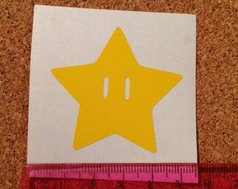 Mario Super Star Vinyl Decal