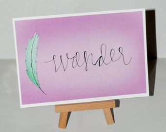 """Original """"Wander"""" Illustrated Print"""