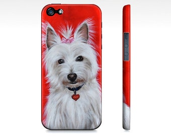 Westie terrier dog phone case for iPhone 5/ 5S, iPhone 6/ 6S, Samsung galaxy s3, Samsung galaxy s4, samsung galaxy s5- west highland case