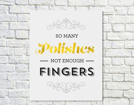 Acheter 2 GET 1 FREE - affiche de vernis à ongles, vernis à ongles citation, Glitter citation or, arc-en-ciel, cadeaux pour elle, typographie Poster - nombreuses encaustiques