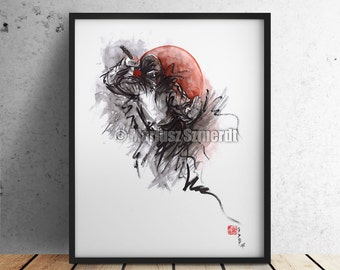 Ninja warriors, modern art, martial arts styles - japanese warriors wallpaper.