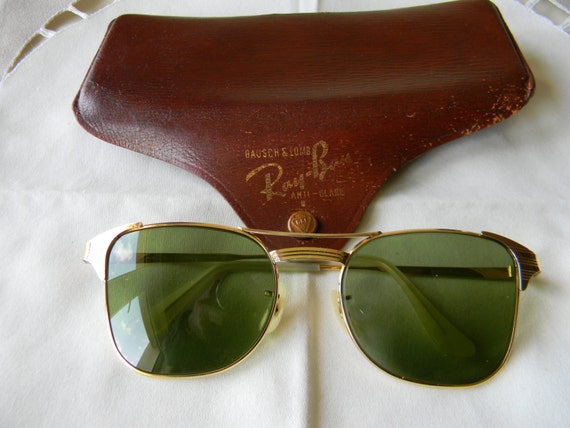 ray ban sunglasses made in usa  true vintage rare b&l ray ban signet 1/20 10kgf sunglasses 1940