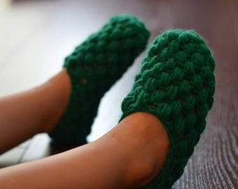Crochet Puff Slipper Socks