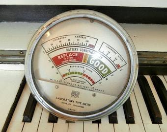 1941-1942, LARGE, Battery Tester, Labortory Meter, Williard Storage Battery Company, Heyer Instrument