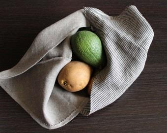 Natural Handmade Bento Bags, a Set of 3