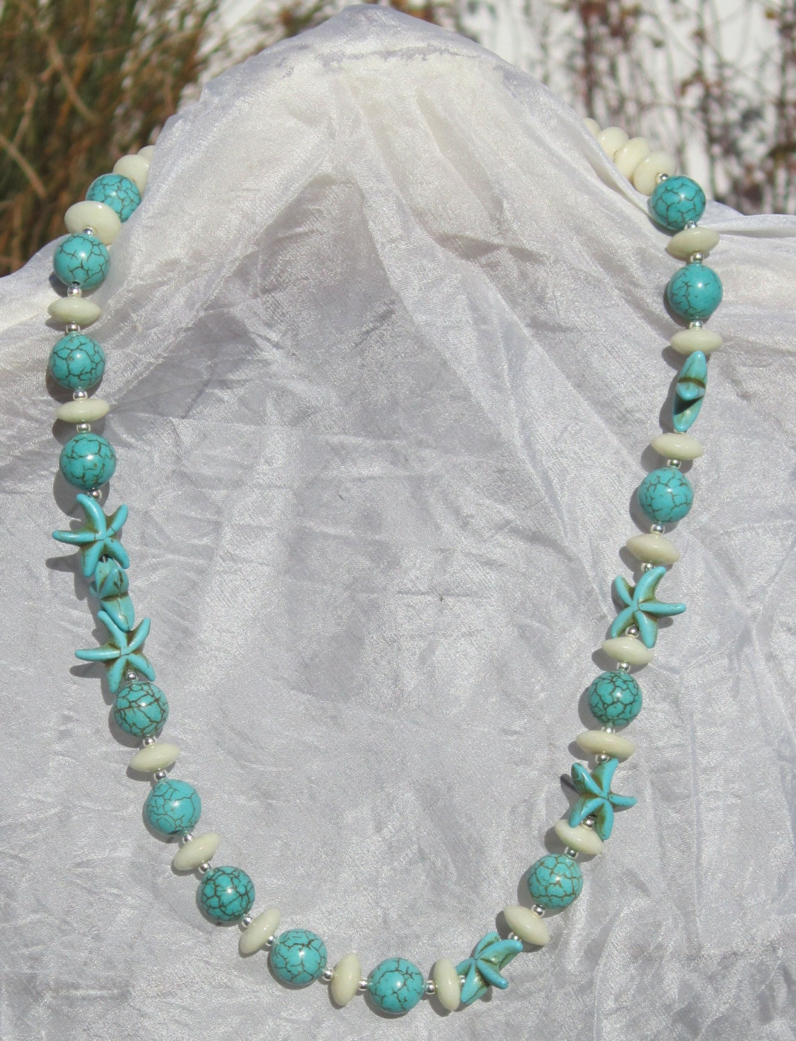 starfish necklace turquoise necklace