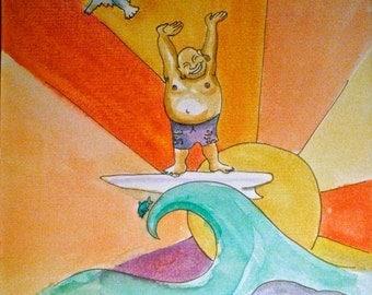 Surfing Buddha!