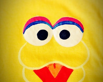BIG BIRD Sesame Street Handpainted Shirt