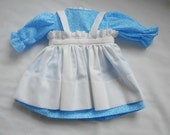 Blue Floral Dress for 20 inch Raggedy Ann Doll