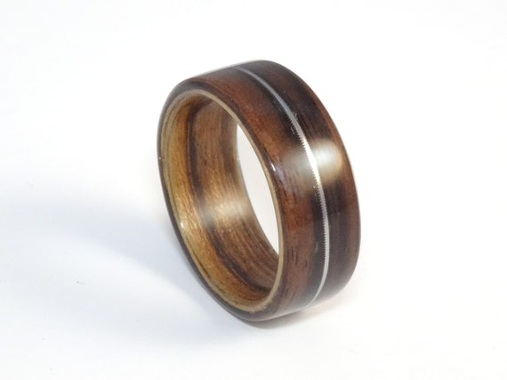 Wooden ring ebony olive with a guitar by zebranowoodcraft for How to make a wooden ring