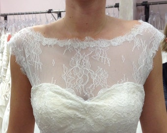 Removable Chantilly lace Underbodice #64